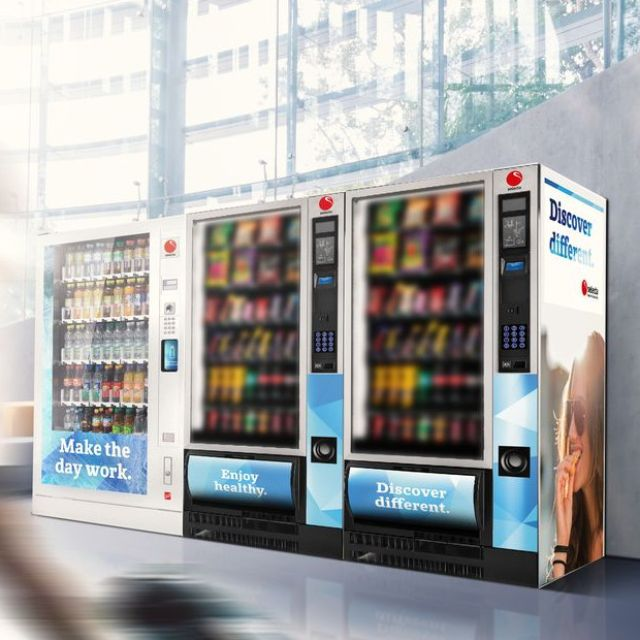 snacks and cold drinks vending machines