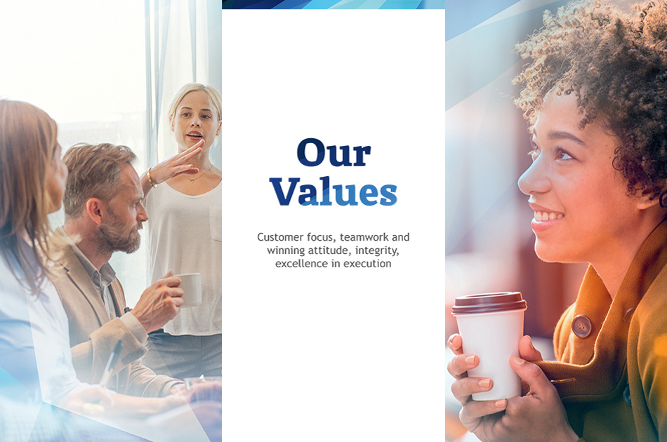 We believe that our values foster creativity and accelerate innovation